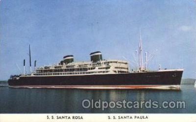 shi028004 - S.S Santa Rosa, S.S. Santa Paula Grace Line, Lines Ship Ships Postcard Postcards