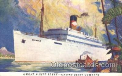 shi029006 - Great White Fleet Great White Line, Lines, Ship Ships Postcard Postcards