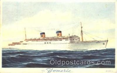 shi030007 - S.S. Homeric Homelines, Home Lines, Line, Ship Ships Postcard Postcards