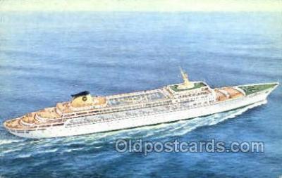 shi030016 - SS Oceanic Home Lines, Ship, Ships, Postcard Postcards