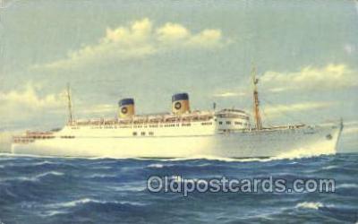 shi030019 - SS Homeric Home Lines, Ship, Ships, Postcard Postcards