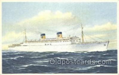 shi030024 - SS Homeric Home Lines, Ship, Ships, Postcard Postcards