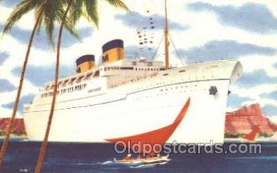 shi032003 - Matsonia Matson Lines Ship Ships Postcard Postcards