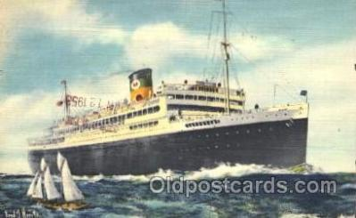 shi033008 - The good Neighbor liners Argentina, Brazil, and Uruguay Moore - McCormack Lines Ocean Liner Ship Ships Postcard Postcards