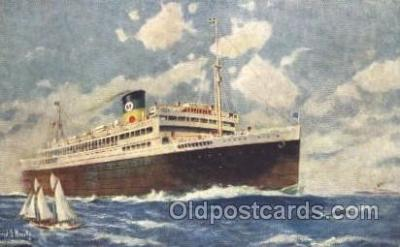 shi033009 - The good Neighbor liners Argentina, Brazil, and Uruguay Moore - McCormack Lines Ocean Liner Ship Ships Postcard Postcards