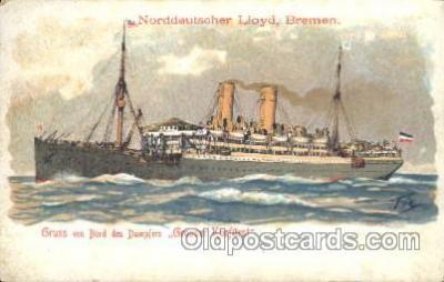 shi035027 - Grosser Kurfurst Norddeutscher Lloyd Ship Ships Postcard Postcards