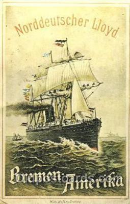 shi035032 - Reproduction - Breman Amerika Norddeutscher Lloyd Ship Ships Postcard Postcards