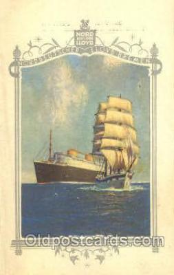 shi035506 - Menu's of NordDeutscher Lloyd Bremen Ship Ships Postcard Postcards