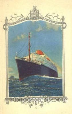 shi035507 - Menu's of NordDeutscher Lloyd Bremen Ship Ships Postcard Postcards