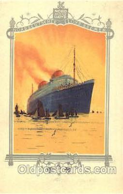 shi035514 - Menu's of Nord Deutscher Lloyd Bremen Ship Ships Postcard Postcards