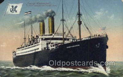 shi035517 - USS George Washington Norddeutscher Lloyd, Breman, Ship Postcard Postcards