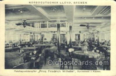 shi035560 - Prinz Friedrich Wilhelm Norddeutscher Lloyd, Breman, Ship Postcard Postcards