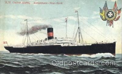 shi036002 - S.S. United States Scandanavian American Line, Ship Ships Postcard Postcards