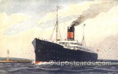 shi036007 - Det forenede Dampskibs-Selskab Scandanavian American Line, Ship Ships Postcard Postcards