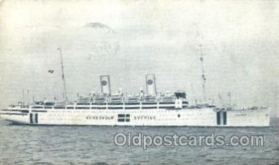 shi037012 - Kungsholm Sverige Swedish American Line, Lines Ship Ships Postcard Postcards