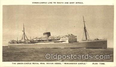 shi039009 - Winchester Castle Union Castle Royal Mail Steamers, Ship Ships Postcard Postcards