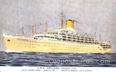 shi041009 - R.M.S. Orcades Orient Line Ship Postcard