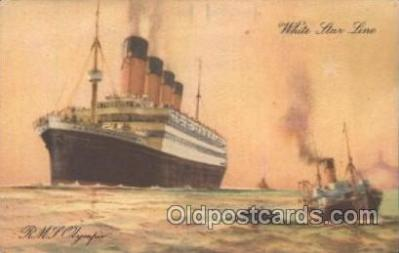 shi042005 - R.M.S. Olympic White Star Line, sister ship to Titanic,  Lines, Liner, Ship Ships Postcard Postcards