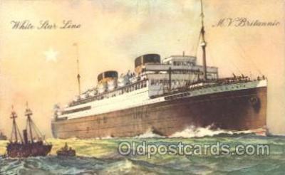shi042006 - M.V. Britannic White Star Line, Lines, Liner, Ship Ships Postcard Postcards