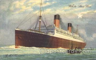 shi042010 - R.M.S. Homeric White Star Line, Lines, Liner, Ship Ships Postcard Postcards