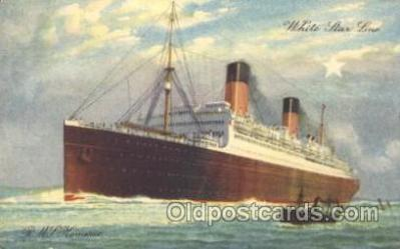 shi042017 - R.M.S. Homeric White Star Line, Lines, Liner, Ship Ships Postcard Postcards