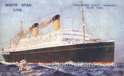 shi042019 - R.M.S. Homeric White Star Line, Lines, Liner, Ship Ships Postcard Postcards