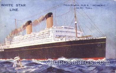 shi042023 - R.M.S. Homeric White Star Line, Lines, Liner, Ship Ships Postcard Postcards