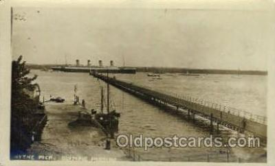 shi042036 - White Star Olympic Ship Postcard Post Card Sister Ship of the Titanic Ship