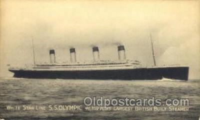 shi042043 - White Star Olympic Ship Postcard Post Card Sister Ship of the Titanic Ship