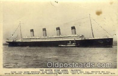 shi042054 - White Star Olympic Ship Postcard Post Card Sister Ship of the Titanic Ship