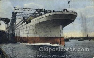 shi042060 - White Star Olympic Ship Postcard Post Card Sister Ship of the Titanic Ship