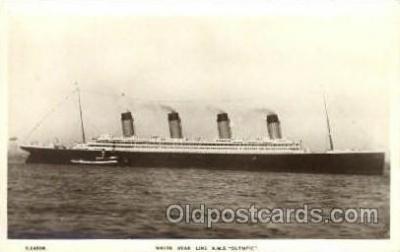 shi042065 - White Star Olympic Ship Postcard Post Card Sister Ship of the Titanic Ship