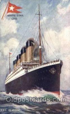 shi042083 - White Star Olympic Ship Postcard Post Card Sister Ship of the Titanic Ship