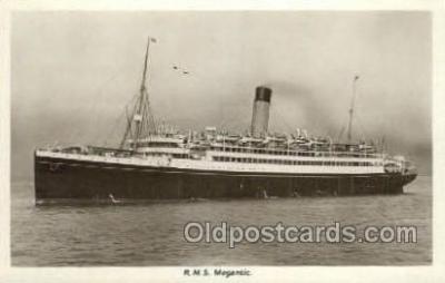 shi042089 - RMS Megantic White Star Line, Ship Postcard Postcards