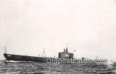 shi043001 - Reproduction - Submarine - USS Snapper SS 185 Commissioned 1937 Ship Postcard Post Card