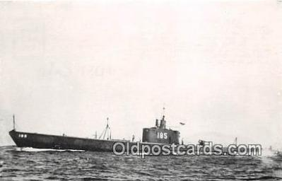 shi043004 - Reproduction - Submarine - USS Snapper SS 185 Commissioned 1937 Ship Postcard Post Card