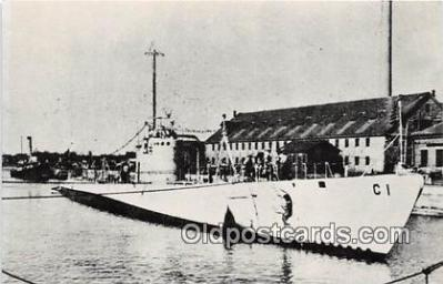 shi043008 - Reproduction - Submarine - USS Cacholot SS 170 Built in 1933 Ship Postcard Post Card