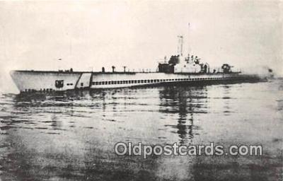 shi043011 - Reproduction - Submarine - USS Seahorse SS 304 Commissioned March 31, 1943 Ship Postcard Post Card
