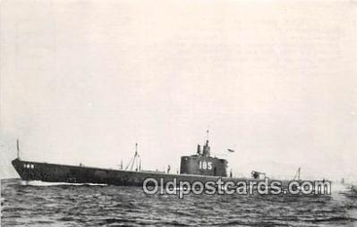 shi043012 - Reproduction - Submarine - USS Snapper SS 185 Commissioned 1937 Ship Postcard Post Card
