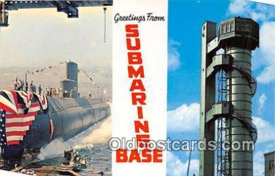 shi043025 - Submarine Base New London, Conn Ship Postcard Post Card