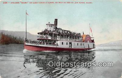 shi045003 - Steamer Idaho St Joe River, Idaho Ship Postcard Post Card