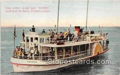 shi045015 - Glass Bottom Power Boat Empress Catalina Island, California Ship Postcard Post Card