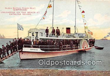 shi045019 - Glass Bottom Power Boat Empress Catalina Island, California Ship Postcard Post Card