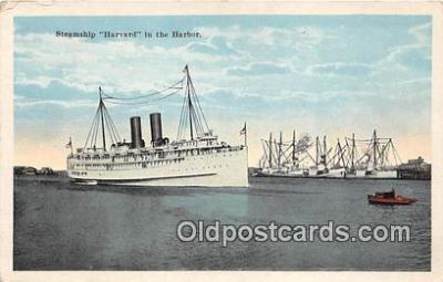 shi045029 - Steamship Harvard Harbor Ship Postcard Post Card