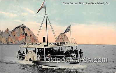 shi045034 - Glass Bottom Boat Catalina Island, California USA Ship Postcard Post Card