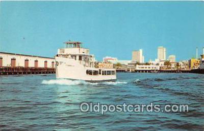 shi045035 - Harbor Excursion Boat Cabrillo San Diego, California USA Ship Postcard Post Card