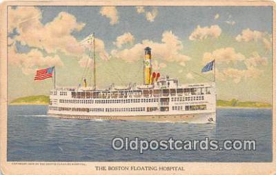 shi045054 - Boston Floating Hospital Boston, Massachusetts USA Ship Postcard Post Card