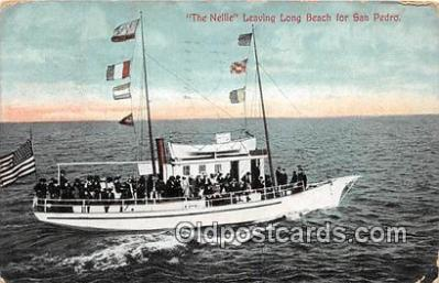 shi045056 - The Nellie San Pedro, Cal USA Ship Postcard Post Card