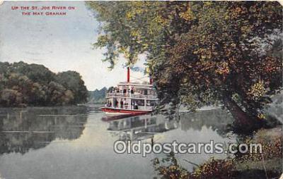 shi045058 - Up the St Joe River May Graham Ship Postcard Post Card