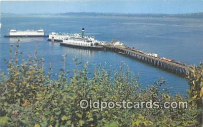 shi045065 - North End Ferry Dock Vashon Island, Washington USA Ship Postcard Post Card